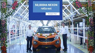 Tata Motors celebrates 50,000th Nexon roll out at Ranjangaon facility