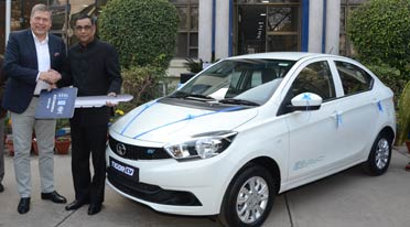 Tata Motors delivers first batch of the Tigor Electric Vehicles to EESL