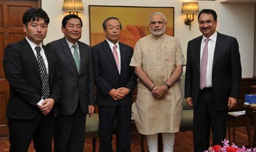 Toyota Chairman Takeshi Uchiyamada meets PM Modi