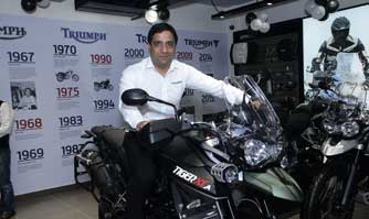 Triumph Motorcycles celebrates 3 years in India; Inaugurates 14th dealership