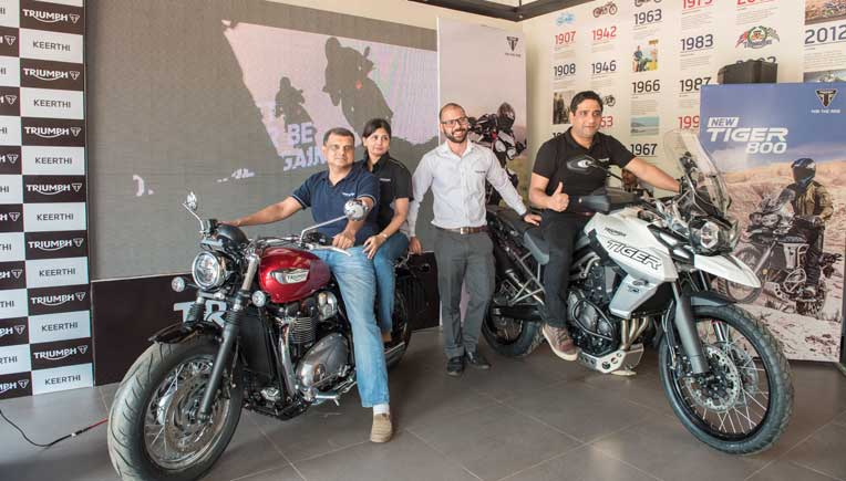 The new dealership, Keerthi Triumph, is spread over 2450 sq. Ft and has been built in keeping with signature Triumph ethos.