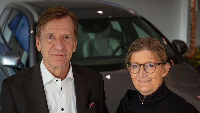 Hakan Samuelsson Volvo Cars President, Chief Executive and Maria Hemberg