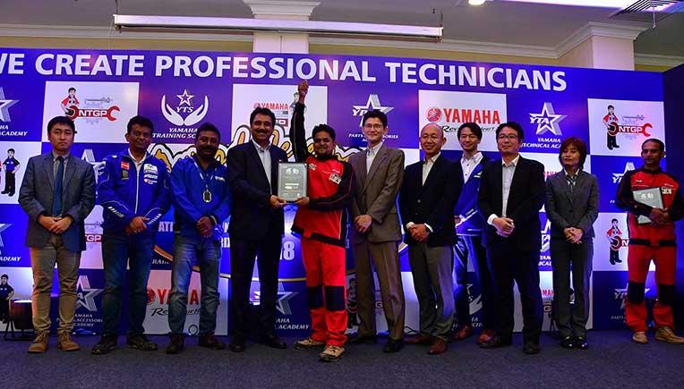 Mohd Abid being felicitated