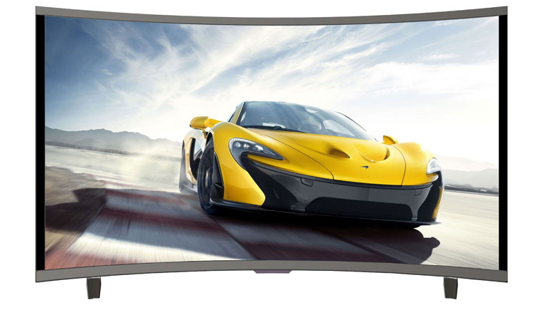 32 inch curved tv from noble skiodo for just rs 15 999. Black Bedroom Furniture Sets. Home Design Ideas