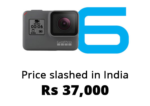GoPro HERO6 price reduced in India, now available for Rs 37,000