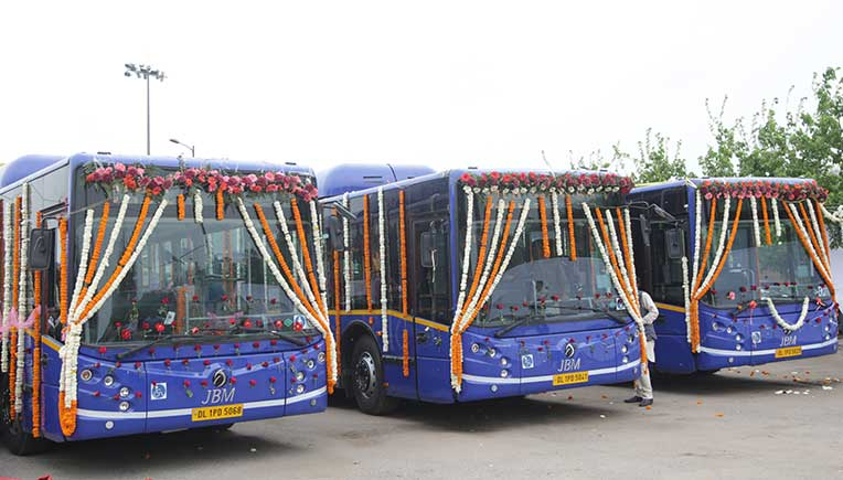 100 JBM Citylife Low Floor AC city buses run flagged off in Delhi