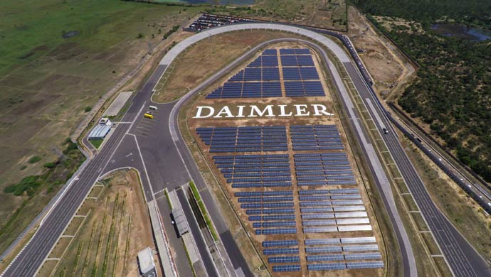 Solar usage at the DICV plant
