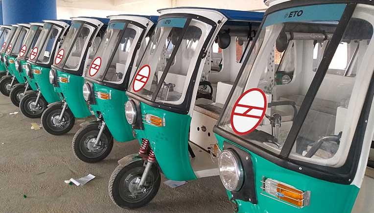 ETO Motors launches 100 e-rickshaws across four Delhi Metro Stations