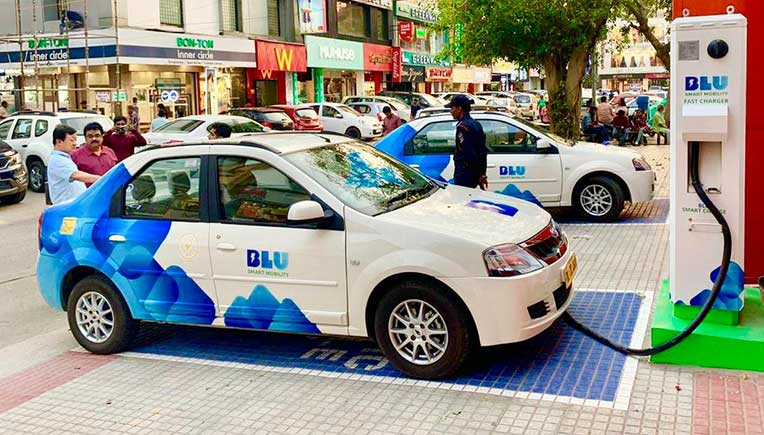 Electric taxi platform BluSmart completes 4.75 million pollution free kms