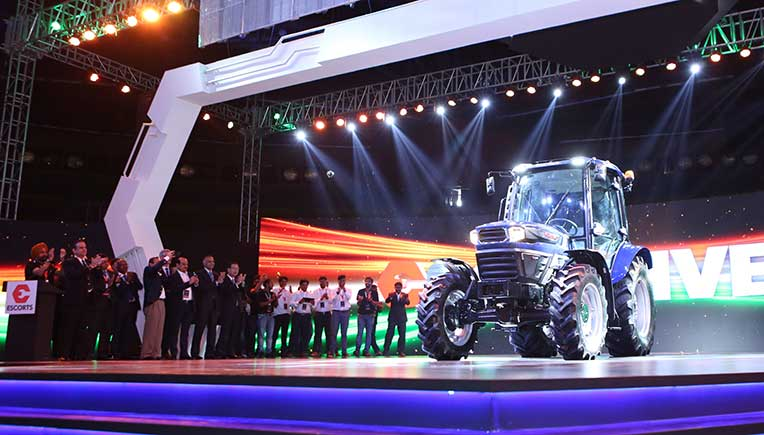 Automated agricultural tractor from Escorts