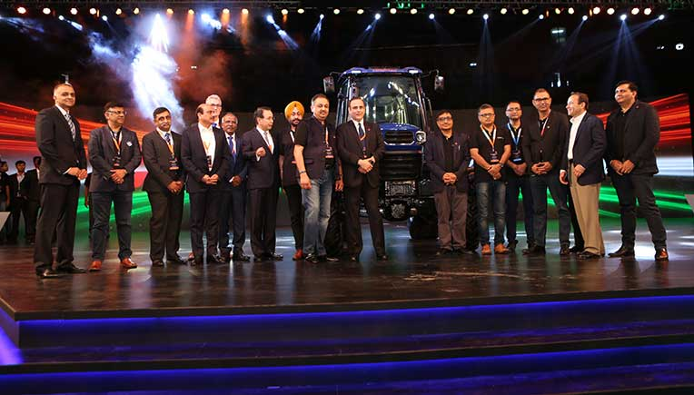Nikhil Nanda, Chairman and Managing Director, Escorts Ltd with his core team at the launch