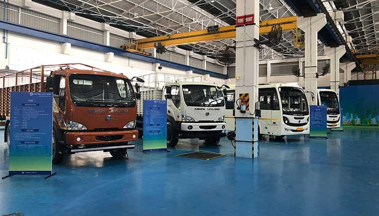 Ashok Leyland showcases BS-VI trucks and buses