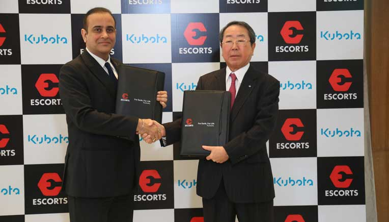 Escorts Ltd and Kubota Corporation enter global joint venture to produce high end tractors