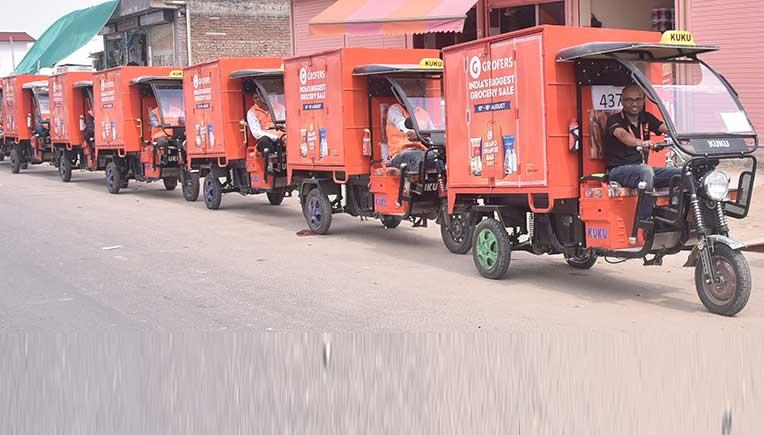 Grofers introduces 50 electric vans in Jaipur