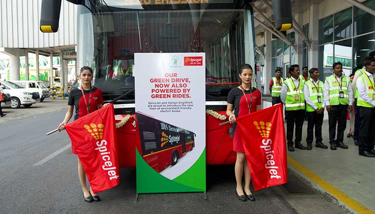 Harigo EngiWork launces e-tarmac buses for SpiceJet in Chennai