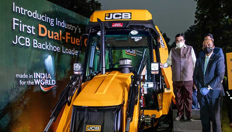 JCB India launches industry's first dual-fuel CNG backhoe loader