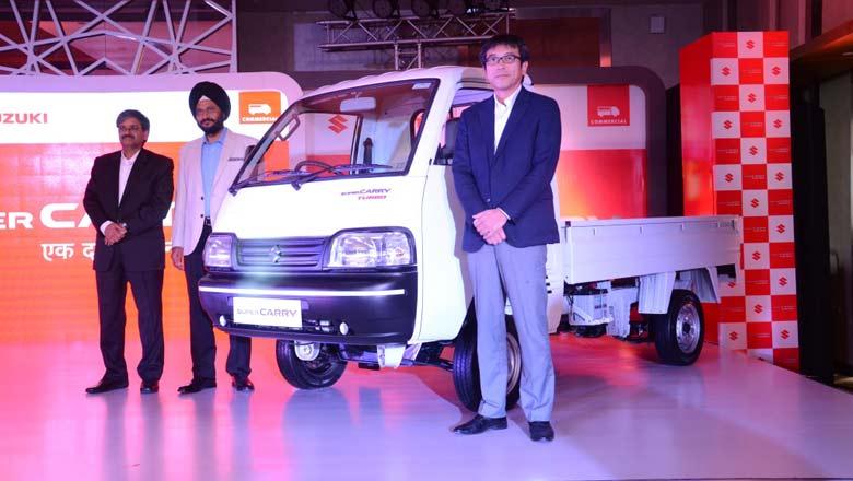 Maruti Suzuki officials at the LCV launch in Ahmedabad