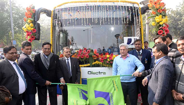The eBuzz K9 from Olectra-BYD was flagged off by the Transport Minister of Delhi Kailash Gahlot from Delhi Secretariat.