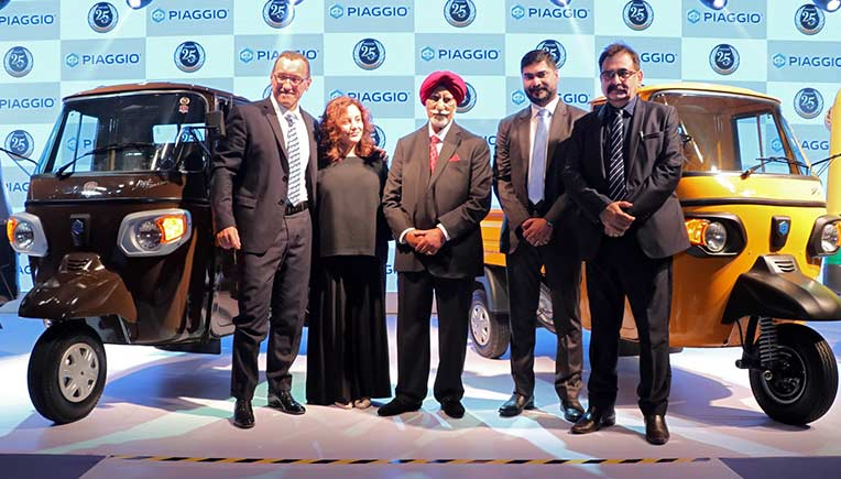 Senior officials of Piaggio during the launch of Ape Xtra LDX