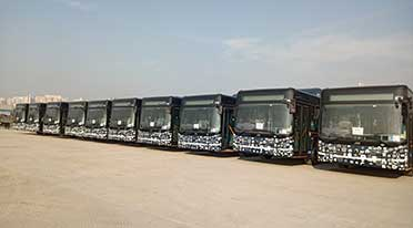 2nd batch of 25 low floor CNG buses from JBM delivered for Gurugaman bus service