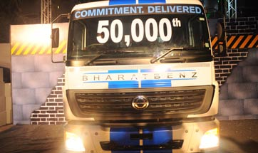 50,000 BharatBenz trucks on Indian roads in less than 5 years