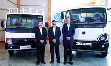 Ashok Leyland launches ICV - 'Guru' and the Next Gen LCV 'Partner' in India