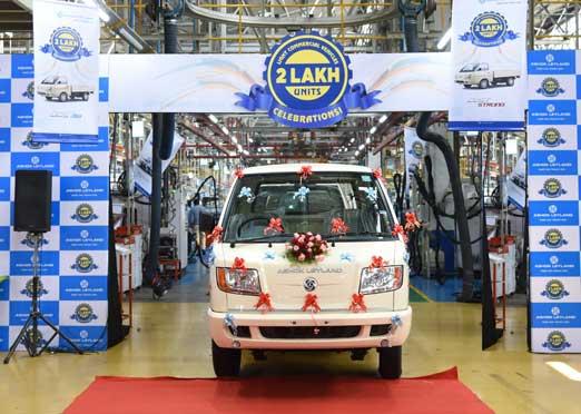 Ashok Leyland rolls out 2,00,000th LCV from Hosur Plant