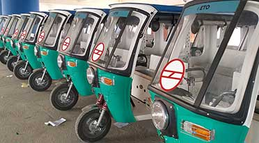 ETO Motors launches 100 e-rickshaws across four Delhi Metro Stations