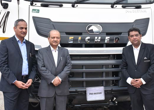 Eicher showcases heavy duty Pro series trucks at Excon 2017