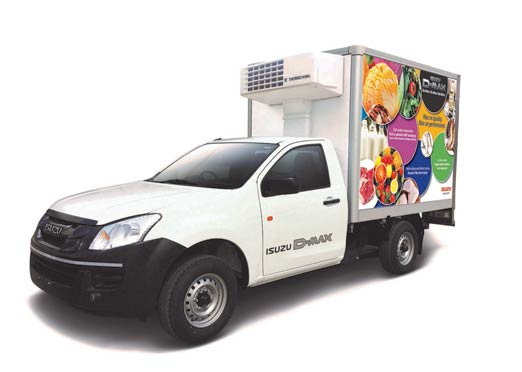Isuzu D-Max Reefer Concept vehicle showcased at the India Cold Chain Show