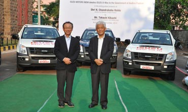 Isuzu Motors India donates 5 D-Max vehicles to AP