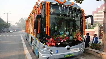 JBM Solaris Eco-Life electric bus flagged off in Delhi