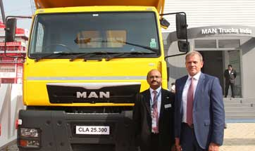 MAN Trucks India unveils CLA EVO range of HCVs at Bauma CONEXPO 2016