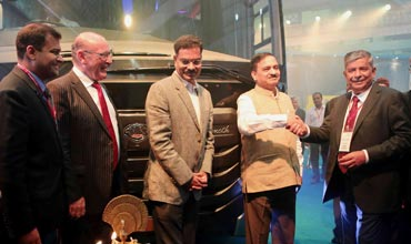 MG Group, MAN Trucks India unveil luxury coach Mammoth