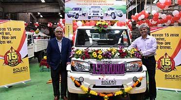 Mahindra rolls out 15th lakh Bolero Pick up vehicle from Kandivali plant