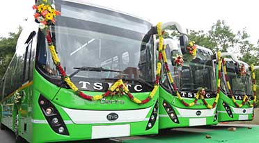 Olectra-BYD delivers buses to Telengana Road Transport Corporation