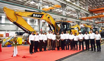 SANY India rolls out 1000th machine from Chakan plant
