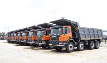 Scania bags mega order for 200 tippers from mining company