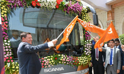 Scania flags off new bus service in Mumbai