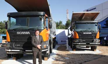 Scania showcases its flagship range of premium P 410 mining tippers