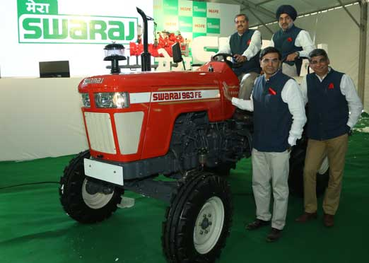 Swaraj Tractors launches all new Swaraj 963 FE with 2WD & 4WD