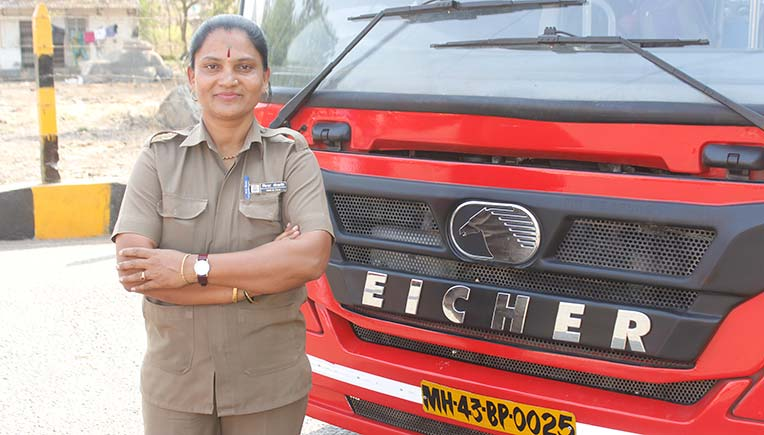 Women opt for driving commercial vehicles thanks to Eicher City Midi Bus