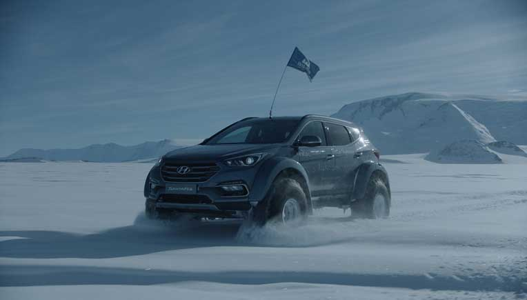 Hyundai Santa Fe conquers the Antarctic driven by great grandson of Sir Ernest