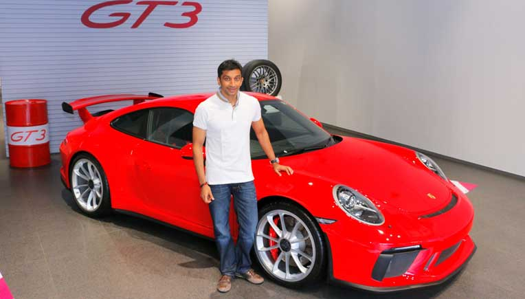 Narain Karthikeyan takes home his Rs 2.3 crore Porsche 911 GT3