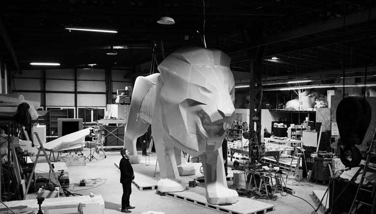 Peugeot unveils monumental Lion sculpture, the new brand ambassador