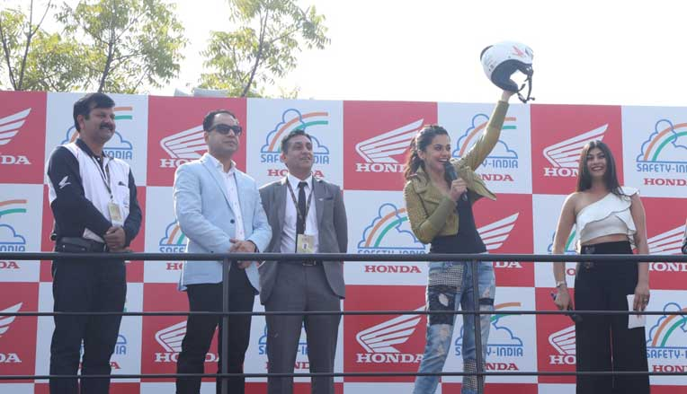 Taapsee Pannu launches Honda 2Wheelers India's helmet campaign