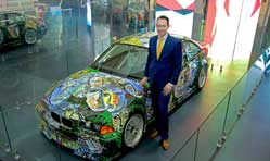 BMW Art Car by Sandro Chia celebrates its 25th anniv in India