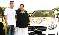 Brand new Mercedes-Benz C-Class turned into a captivating canvas in Mumbai