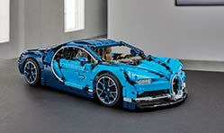 Bugatti Chiron 1:8 model from Lego in 3,599 pieces