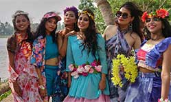 Fashion show on a boat amidst Kerala's scenic backwaters